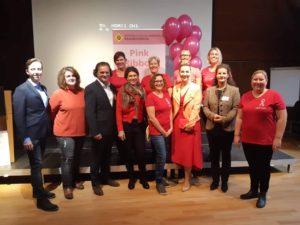 Dr. Monika Gadners Die Frauenärztin in Klosterneuburg beim Vortrag von Pink Ribbon
